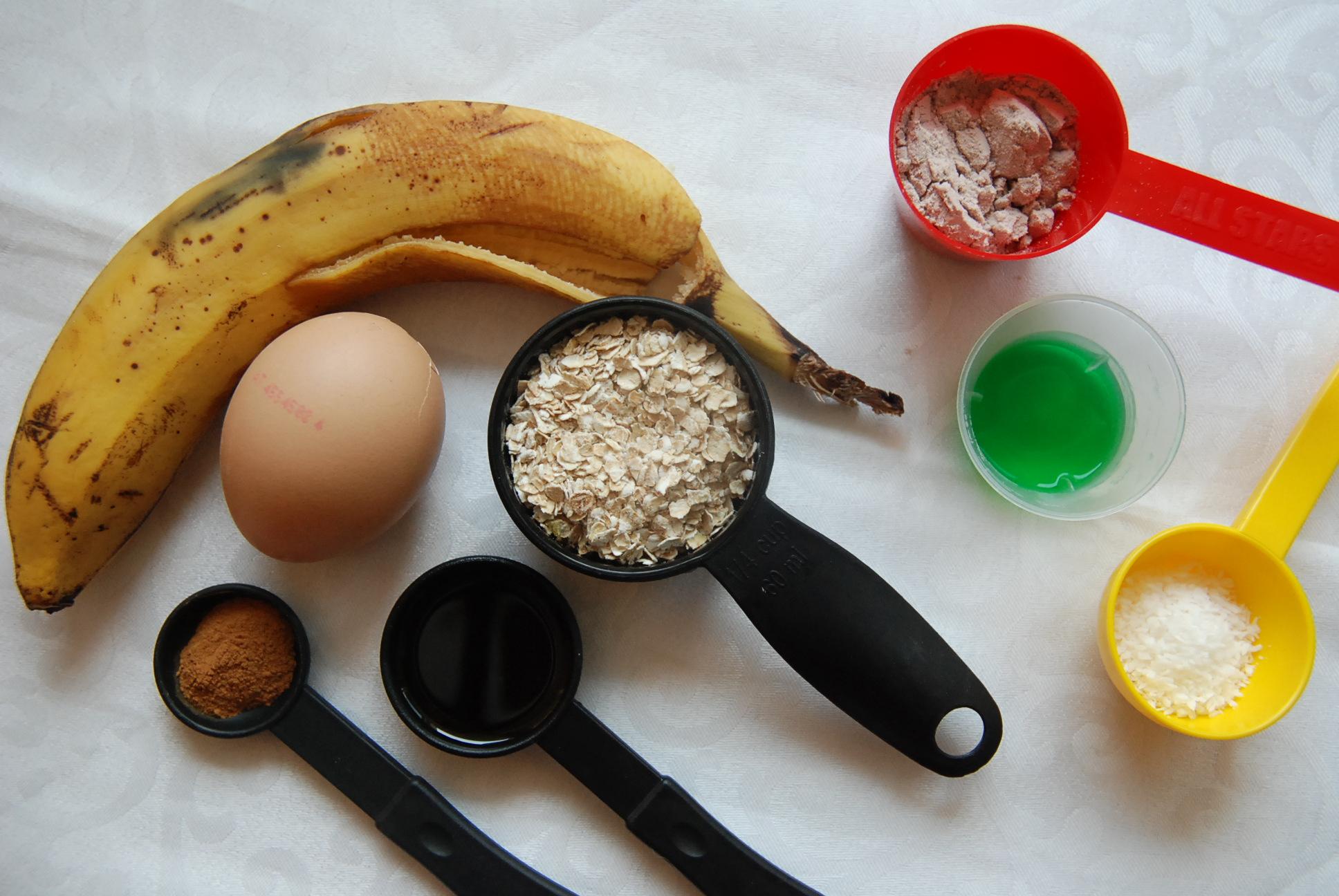 Bananen Haferflocken Kuchen Aus Der Mikrowelle Fit Happy