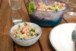 Teff Kichererbsen Salat mit Tahini-Lemon Dressing