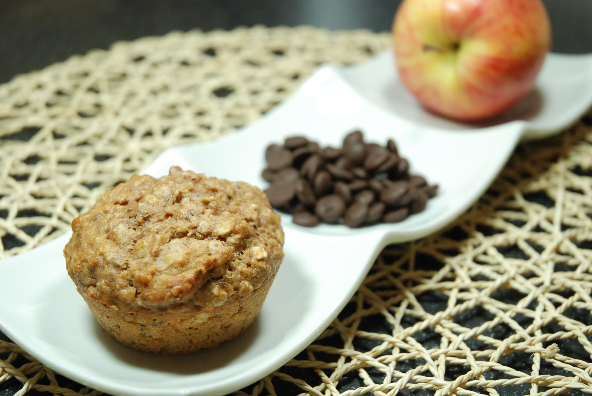 Apfel-Schoko-Frühstücksmuffins / Apple-chocolate-breakfast muffins