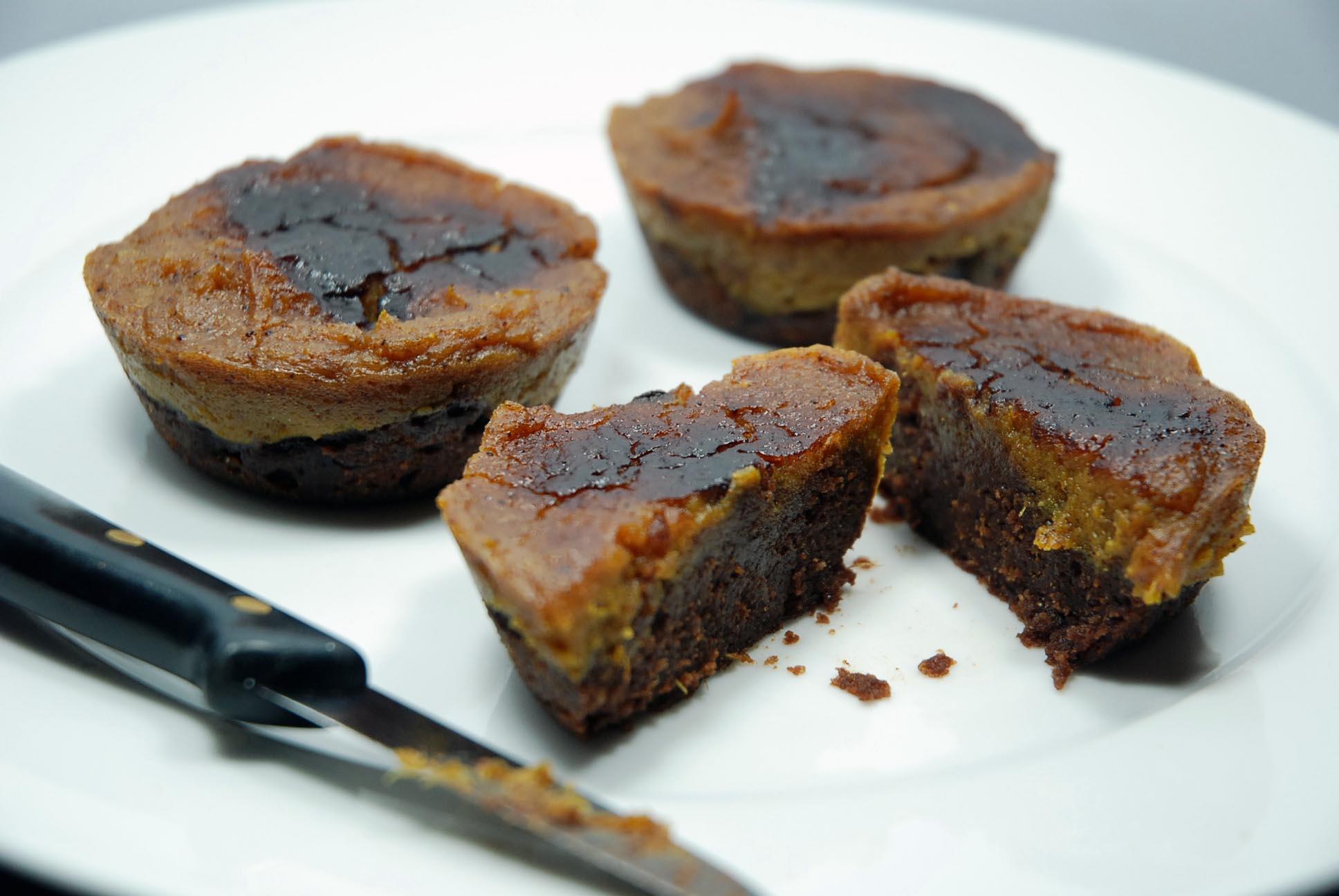Kürbiskuchen-Brownie-Cupcakes