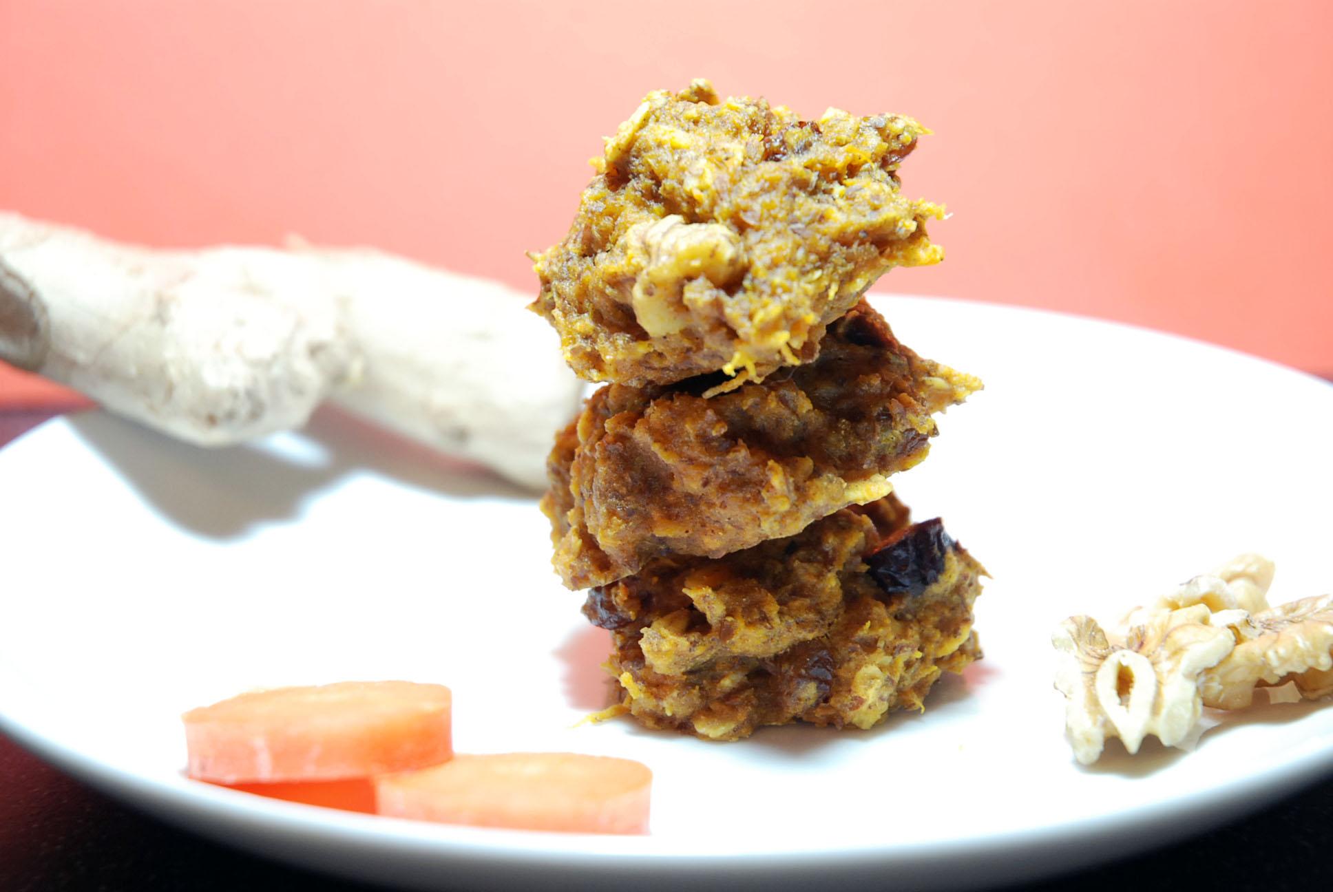 Karotten-Frühstückscookies / Carrot breakfast cookies